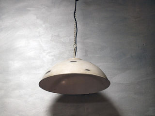 White Rounded Industrial Light