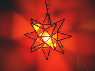 Mexican Red Star Lantern: Large
