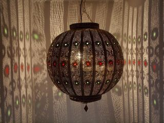 Large Casablanca Lantern: brown