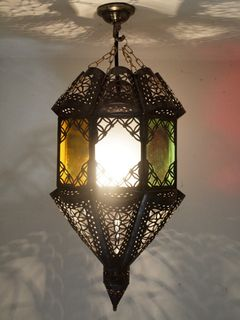 Boho Moroccan Lantern Coloured