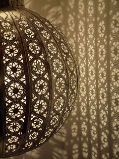 Bohemian Lantern Large Brown