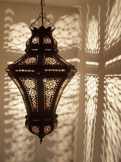 Marrakech Tin Lantern: large
