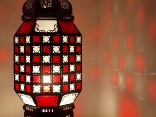 Medina Lantern: large, red & white