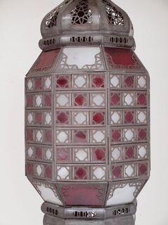 Medina Lantern Large Red Amp White Furniture Lighting