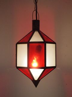 Dejamo Lantern: red & white