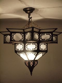 Moroccan Star Lantern: large, white