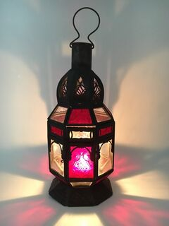 Moroccan Lamp: red