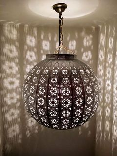 Bohemian Lantern Medium Brown
