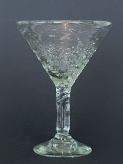 Clear Spotted Cocktail Glass