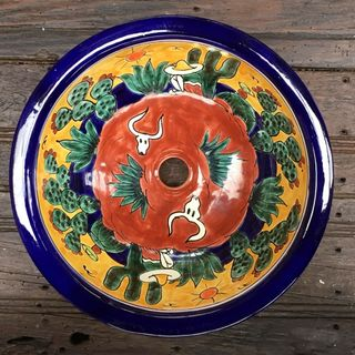 Wild West Round Talavera Handbasin Medium