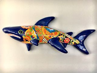 Large Talavera Shark