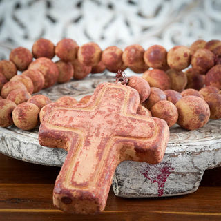 Large Red Mexican Rosary Beads