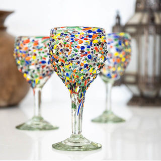 Confetti White Wine Glass