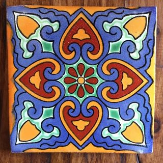 Hand crafted mexican talavera tiles