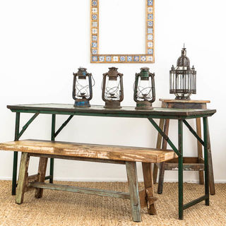 Antique Folding Table Green