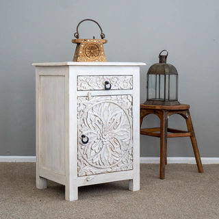 Goa Bedside Table Whitewash