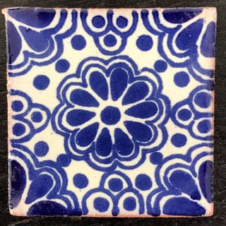 Lace Azul Quarter Tile 50mm x 50mm