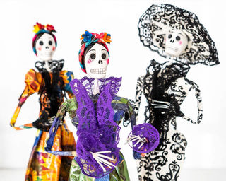 Day of the Dead Mixed Paper Mache