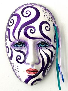 Purple Trance Wall Mask