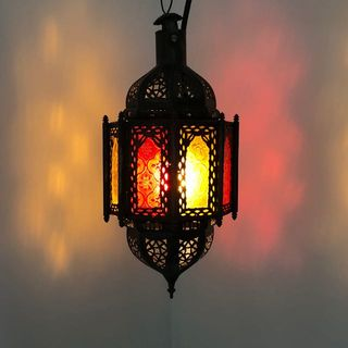 Zohra Lantern Red and Yellow