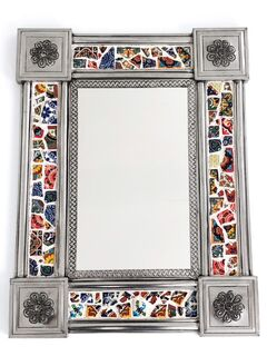 Mexican Tin & Tile Mirror: Mosaic