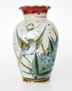 Hand Painted Mexican Vase 3