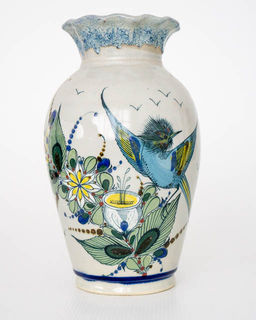Hand Painted Mexican Vase 4