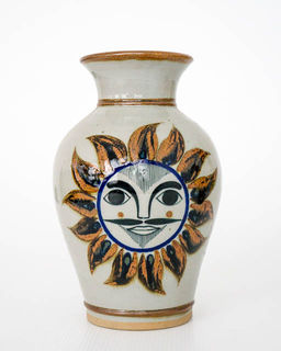 Hand Painted Mexican Vase 9
