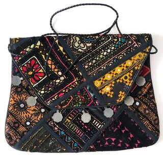 Black Vintage Banjara Bag 11
