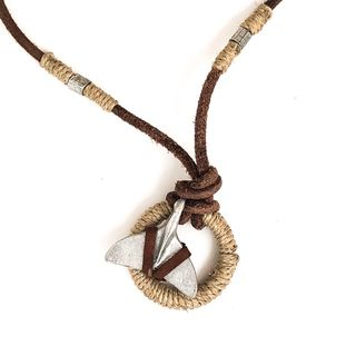 Whale Leather Thong Necklace