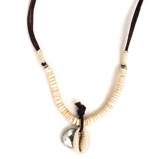 Cowrie Leather Thong Necklace