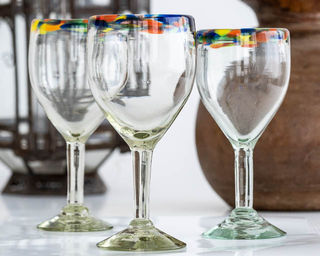 Confetti Rim Wine Glass