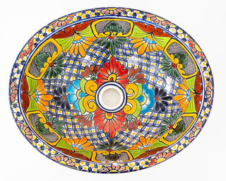 Medium Talavera Hand Basin 1