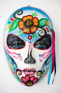 Day of the Dead Sugar Skull Blue