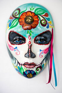 Day of the Dead Sugar Skull Green