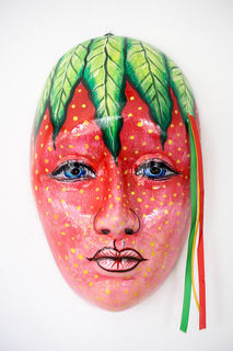Mexican Wall Mask Strawberry