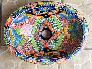 Hand painted Mexican Basin 6: Small