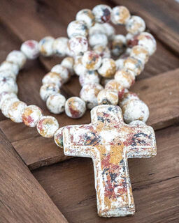 Large Mexican Rosary Beads Mottled