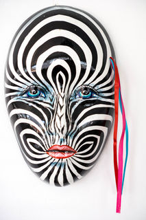 Mexican Wall Mask Zebra