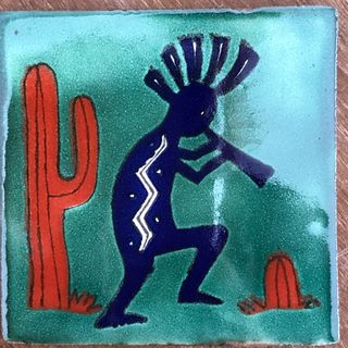 Kokopelli Tile Green
