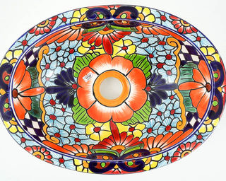 Small Talavera Hand Basin 2