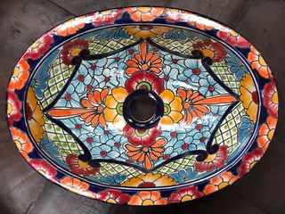 Hand painted Mexican Basin 13: Small