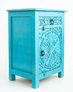 Bohemian Bedside Table Blue