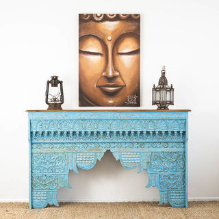 Indie Carved Console Blue