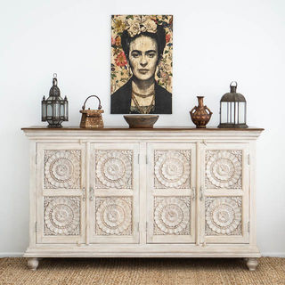 Pondicherry Large Sideboard White