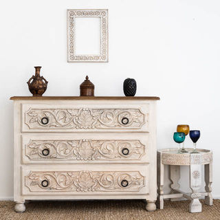 Hand Carved Boho Drawers