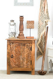 Boho Bedside Table Natural