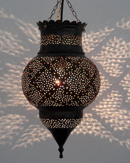 Medium 45cm Brass Kora Lantern 5
