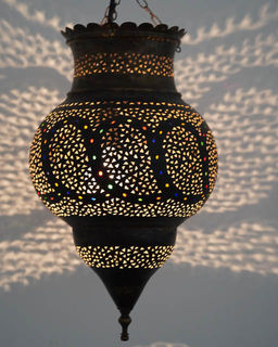 Medium 45cm Brass Kora Lantern 6