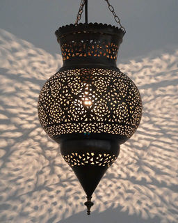 Medium 48cm Brass Kora Lantern 7